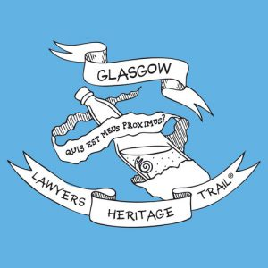 Logo of Lawyers Heritage Trail Glasgow showing a snail in a bottle.